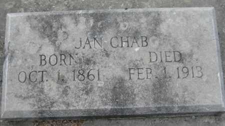 "CHAB, JOHANN ""JAN"" - Saline County, Nebraska | JOHANN ""JAN"" CHAB - Nebraska Gravestone Photos"