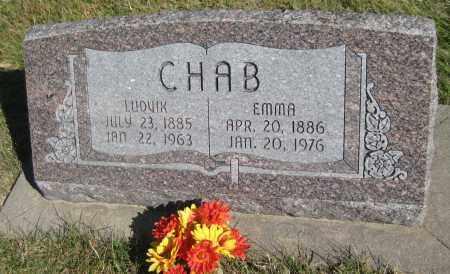 CHAB, EMMA - Saline County, Nebraska   EMMA CHAB - Nebraska Gravestone Photos