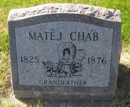 CHAB, MATEJ - Saline County, Nebraska   MATEJ CHAB - Nebraska Gravestone Photos