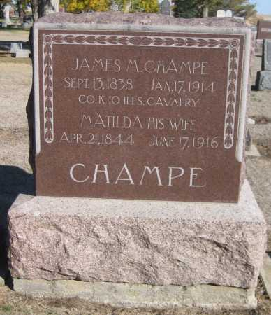 CHAMPE, JAMES M. - Saline County, Nebraska | JAMES M. CHAMPE - Nebraska Gravestone Photos