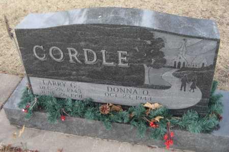CORDLE, DONNA O. - Saline County, Nebraska | DONNA O. CORDLE - Nebraska Gravestone Photos