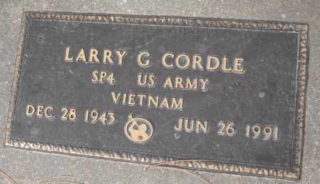 CORDLE, LARRY G. - Saline County, Nebraska | LARRY G. CORDLE - Nebraska Gravestone Photos