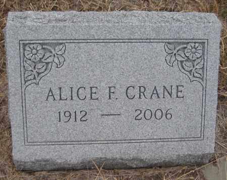 CRANE, ALICE F. - Saline County, Nebraska   ALICE F. CRANE - Nebraska Gravestone Photos
