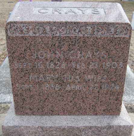 CRAYS, MARY - Saline County, Nebraska | MARY CRAYS - Nebraska Gravestone Photos