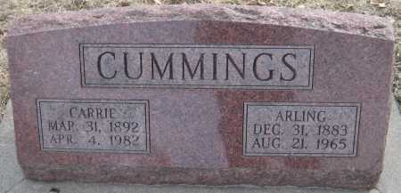 CUMMINGS, CARRIE - Saline County, Nebraska   CARRIE CUMMINGS - Nebraska Gravestone Photos