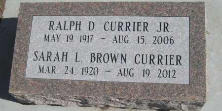 CURRIER, SARAH L. - Saline County, Nebraska | SARAH L. CURRIER - Nebraska Gravestone Photos