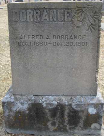 DORRANCE, ALFRED A. - Saline County, Nebraska | ALFRED A. DORRANCE - Nebraska Gravestone Photos
