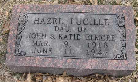 ELMORE, HAZEL LUCILLE - Saline County, Nebraska | HAZEL LUCILLE ELMORE - Nebraska Gravestone Photos