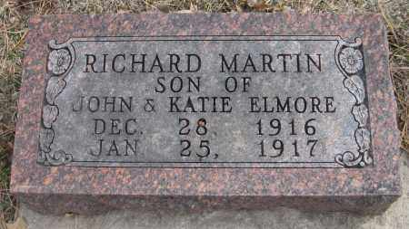 ELMORE, RICHARD MARTIN - Saline County, Nebraska | RICHARD MARTIN ELMORE - Nebraska Gravestone Photos