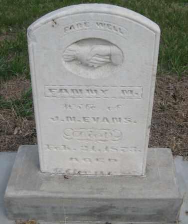 EVANS, FANNY M. - Saline County, Nebraska   FANNY M. EVANS - Nebraska Gravestone Photos
