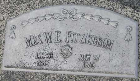 FITZGIBBON, MRS W. E. - Saline County, Nebraska   MRS W. E. FITZGIBBON - Nebraska Gravestone Photos