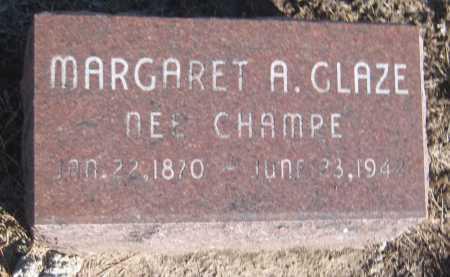 GLAZE, MARGARET A. - Saline County, Nebraska | MARGARET A. GLAZE - Nebraska Gravestone Photos
