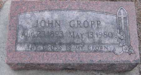 GROPP, JOHN - Saline County, Nebraska   JOHN GROPP - Nebraska Gravestone Photos