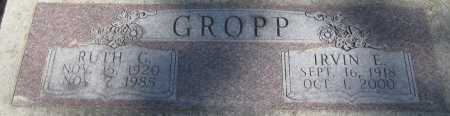 GROPP, IRVIN E. - Saline County, Nebraska | IRVIN E. GROPP - Nebraska Gravestone Photos