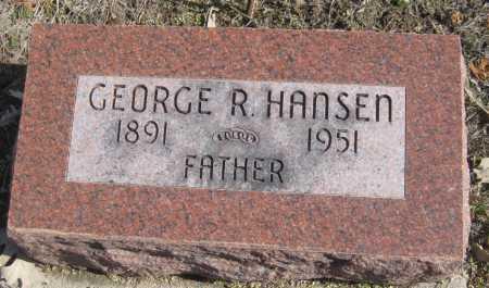 HANSEN, GEORGE R. - Saline County, Nebraska | GEORGE R. HANSEN - Nebraska Gravestone Photos