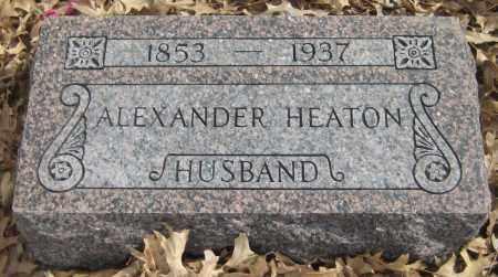 HEATON, ALEXANDER - Saline County, Nebraska | ALEXANDER HEATON - Nebraska Gravestone Photos