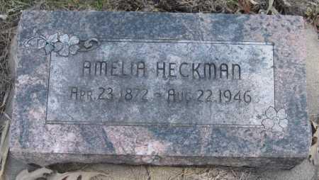 HECKMAN, AMELIA - Saline County, Nebraska | AMELIA HECKMAN - Nebraska Gravestone Photos