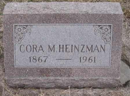 HOWELL HEINZMAN, CORA MAE - Saline County, Nebraska | CORA MAE HOWELL HEINZMAN - Nebraska Gravestone Photos