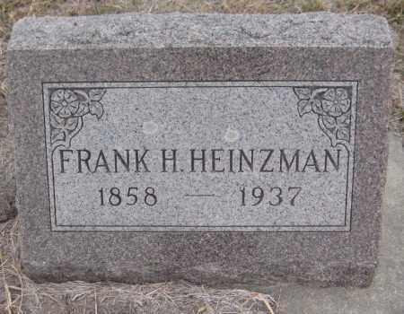 HEINZMAN, FRANK H. - Saline County, Nebraska | FRANK H. HEINZMAN - Nebraska Gravestone Photos