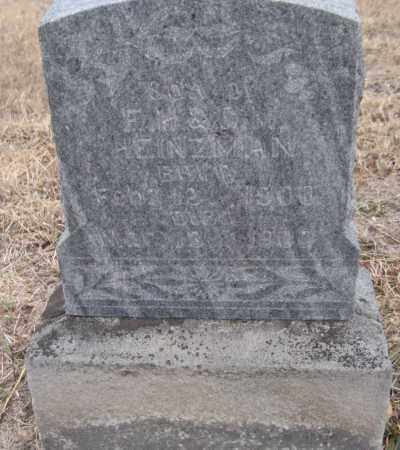 HEINZMAN, JOHN FREDERICK - Saline County, Nebraska | JOHN FREDERICK HEINZMAN - Nebraska Gravestone Photos