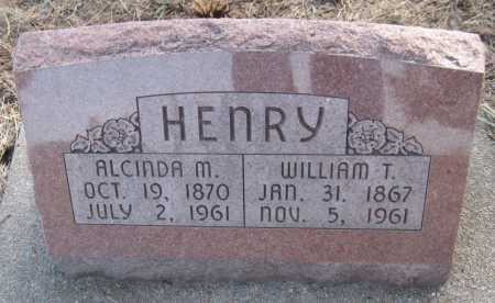 HENRY, WILLIAM T. - Saline County, Nebraska | WILLIAM T. HENRY - Nebraska Gravestone Photos