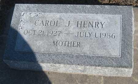 HENRY, CAROL J. - Saline County, Nebraska | CAROL J. HENRY - Nebraska Gravestone Photos