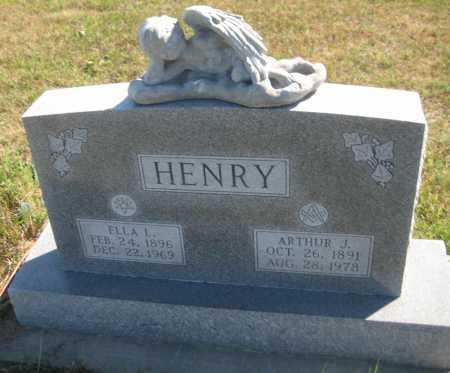 HENRY, ELLA L. - Saline County, Nebraska | ELLA L. HENRY - Nebraska Gravestone Photos