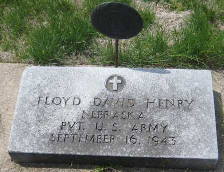 HENRY, FLOYD DAVID - Saline County, Nebraska | FLOYD DAVID HENRY - Nebraska Gravestone Photos