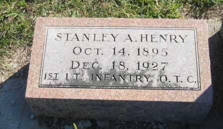 HENRY, STANLEY A. - Saline County, Nebraska | STANLEY A. HENRY - Nebraska Gravestone Photos