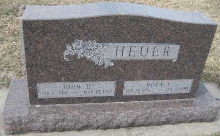 HEUER, DORA E. - Saline County, Nebraska | DORA E. HEUER - Nebraska Gravestone Photos