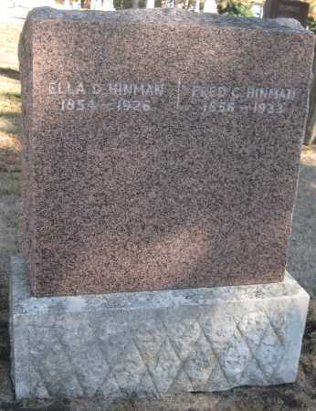 HINMAN, ELLA D. - Saline County, Nebraska | ELLA D. HINMAN - Nebraska Gravestone Photos
