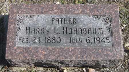 HOHNBAUM, HARRY L. - Saline County, Nebraska | HARRY L. HOHNBAUM - Nebraska Gravestone Photos