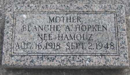 HAMOUZ HOPKEN, BLANCHE A. - Saline County, Nebraska | BLANCHE A. HAMOUZ HOPKEN - Nebraska Gravestone Photos