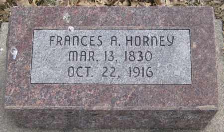 HORNEY, FRANCES A. - Saline County, Nebraska | FRANCES A. HORNEY - Nebraska Gravestone Photos