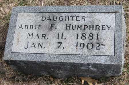 HUMPHREY, ABBIE F. - Saline County, Nebraska   ABBIE F. HUMPHREY - Nebraska Gravestone Photos