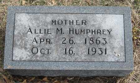 HUMPHREY, ALLIE M. - Saline County, Nebraska | ALLIE M. HUMPHREY - Nebraska Gravestone Photos