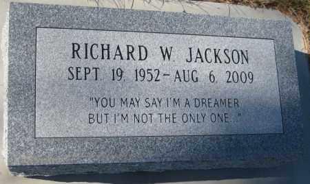 JACKSON, RICHARD W. - Saline County, Nebraska   RICHARD W. JACKSON - Nebraska Gravestone Photos