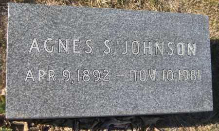 JOHNSON, AGNES S. - Saline County, Nebraska   AGNES S. JOHNSON - Nebraska Gravestone Photos