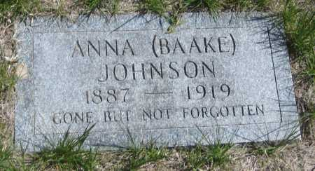 JOHNSON, ANNA - Saline County, Nebraska | ANNA JOHNSON - Nebraska Gravestone Photos
