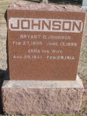 JOHNSON, BRYANT D. - Saline County, Nebraska | BRYANT D. JOHNSON - Nebraska Gravestone Photos