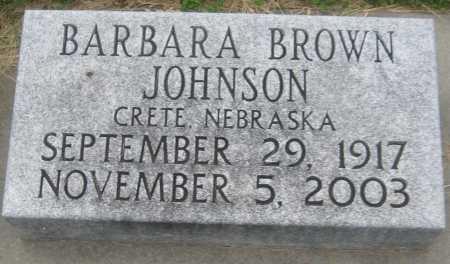 JOHNSON, BARBARA - Saline County, Nebraska | BARBARA JOHNSON - Nebraska Gravestone Photos