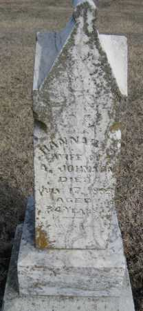 JOHNSON, HANNAH - Saline County, Nebraska | HANNAH JOHNSON - Nebraska Gravestone Photos