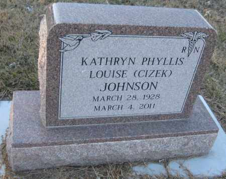 JOHNSON, KATHRYN PHYLLIS LOUISE - Saline County, Nebraska | KATHRYN PHYLLIS LOUISE JOHNSON - Nebraska Gravestone Photos