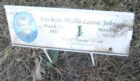 JOHNSON, KATHRYN PHYLLIS LOUISE - Saline County, Nebraska   KATHRYN PHYLLIS LOUISE JOHNSON - Nebraska Gravestone Photos