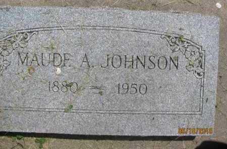 JOHNSON, MAUDE A. - Saline County, Nebraska   MAUDE A. JOHNSON - Nebraska Gravestone Photos