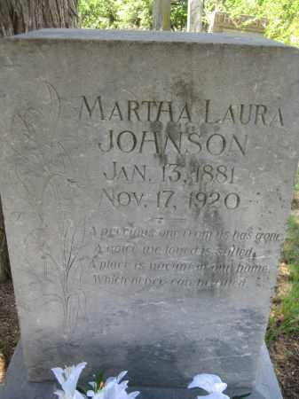 JOHNSON, MARTHA LAURA - Saline County, Nebraska | MARTHA LAURA JOHNSON - Nebraska Gravestone Photos