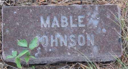 JOHNSON, MABLE - Saline County, Nebraska | MABLE JOHNSON - Nebraska Gravestone Photos