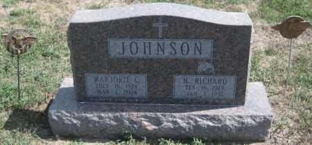 JOHNSON, H. RICHARD - Saline County, Nebraska | H. RICHARD JOHNSON - Nebraska Gravestone Photos
