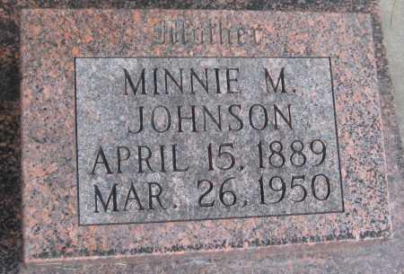 JOHNSON, MINNIE M. - Saline County, Nebraska   MINNIE M. JOHNSON - Nebraska Gravestone Photos