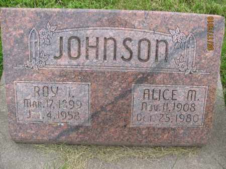JOHNSON, ALICE MARIE - Saline County, Nebraska | ALICE MARIE JOHNSON - Nebraska Gravestone Photos